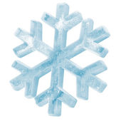 Icy Snowflake Icon isolated on white background — Stock Photo