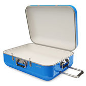 Opened Suitcase isolated on white background — Stock Photo