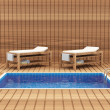 Spa Room Interior with Pool and Tables for Massage — Stock Photo