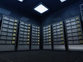 Modern Server Room Interior — Stock Photo