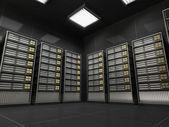 Interni sala server moderno — Foto Stock