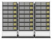 Server Rack isolated on white background — Stock Photo