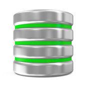 Computer Database Icon isolated on white background — Stock Photo
