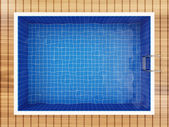 Swimming Pool Top View — 图库照片