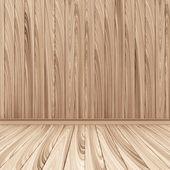 Empty Wooden Room Interior — Stock Photo