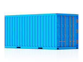 Cargo Container isolated on white background — Stock Photo
