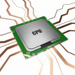 CPU - Central Processing Unit — Stock Photo