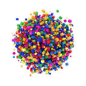 Esfera abstrata feita de cubos coloridos — Foto Stock