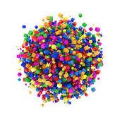 Renkli küpler yapılmış soyut küre — Stok fotoğraf