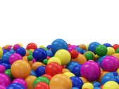 Colorful Balls with place for text — Stock Photo