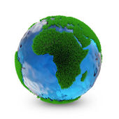 Miniature Green Earth Planet — Stock Photo