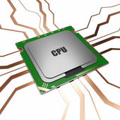 CPU - Central Processing Unit — Стоковое фото