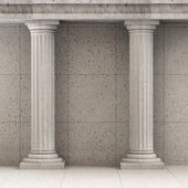 Classic Ancient Interior with Columns — Stock Photo