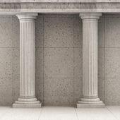 Klassieke oude interieur met kolommen — Stockfoto