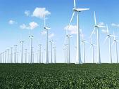 современные ветроустановки — Стоковое фото