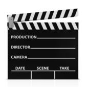 Cinema Clap isolated on white background — Stock Photo