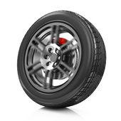 Car Wheel Icon isolated on white background — Stock Photo