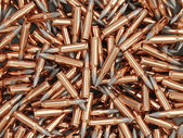 Heap of Rifle Bullets Background — Stock Photo