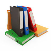Group of Colorful Folders with Documents isolated on white background — Stock Photo