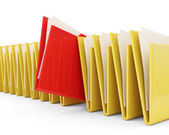 Group of Folders with Files isolated on white background — Stock Photo