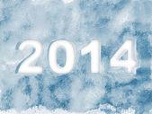 New Year 2014 Ice background — Stock Photo