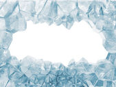 Broken Ice Wall isolated on white background — Stock Photo