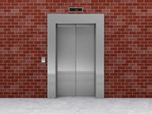 Modern Elevator with Closed Doors — Stock Photo