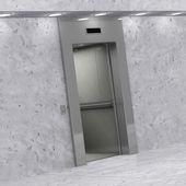 Moderno elevador com portas abertas — Foto Stock
