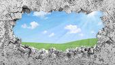 Grungy Broken Concrete Wall — Stock Photo