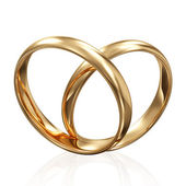 Golden Wedding Rings — 图库照片