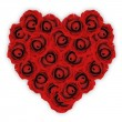 Heart made from Red Roses — Stock Photo
