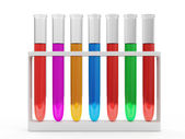 Test Tubes with Colorful Liquid — Stock fotografie