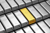 Golden Bar Conceptual Image — Stock Photo