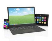 Ordinateur portable, smartphone et tablet pc — Photo