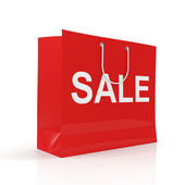 Sale Red Shopping Bag — Stock Photo