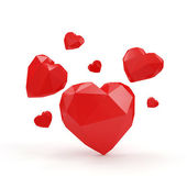 Group of Red Hearts — Stock Photo