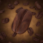 Falling Coffee Beans — Foto Stock