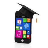 сенсорный смартфон с крышкой выпускной — Стоковое фото