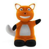 Little Cartoon Fox — Стоковое фото