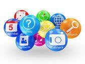 Ikony aplikacji — Zdjęcie stockowe
