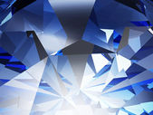 Blue Crystal Facet — Stock Photo