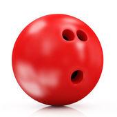 Rot-bowling-kugel — Stockfoto