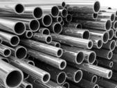 Stack of Steel Metal Tubes — Stock Photo