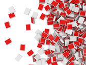 Heap of Red Matchboxes — Stock Photo