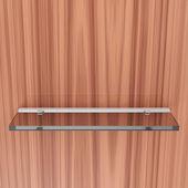 Glass Shelf on wooden — Stock Photo