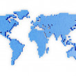 World Map in Pixel Style — Stock Photo #45515553