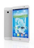 Teléfono inteligente con pantalla táctil aislado — Foto de Stock