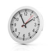 白い背景で隔離の時計 — ストック写真