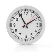 Clock isolated on white background — Stock Photo