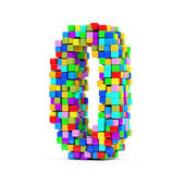 Numbers Made From Colorful Cubes — 图库照片